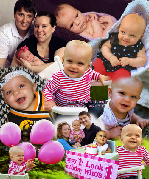 First Birthday Photo Montage