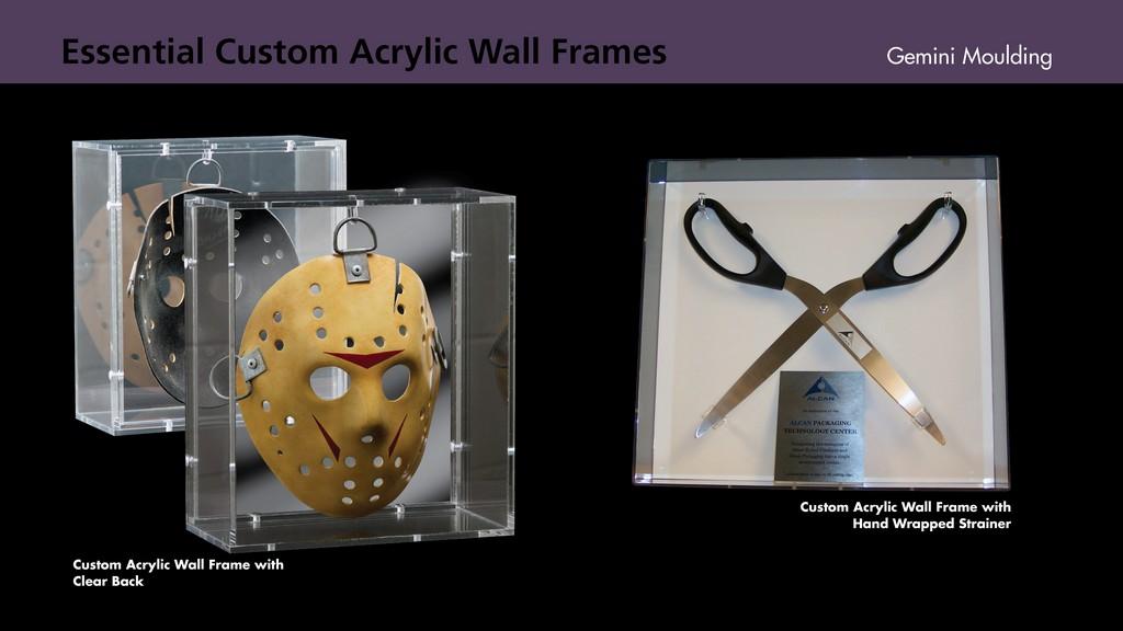 Acrylic wall frames