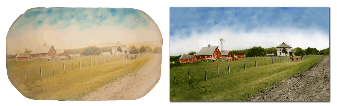 Farmstead photo restoration