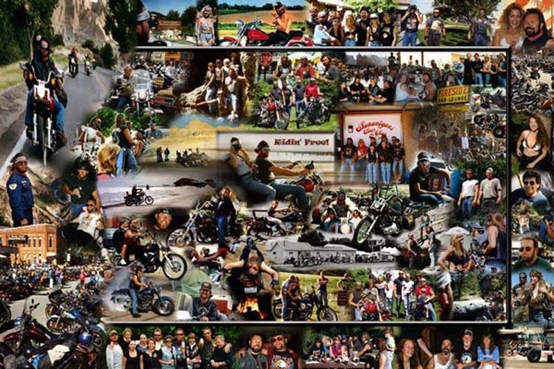 """Riding Free"" travel photo montage"