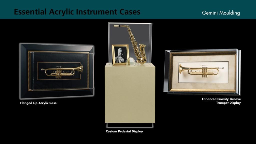 Acrylic music instrument cases