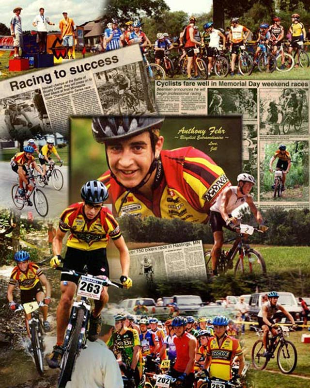 Bicycle racing photo montage