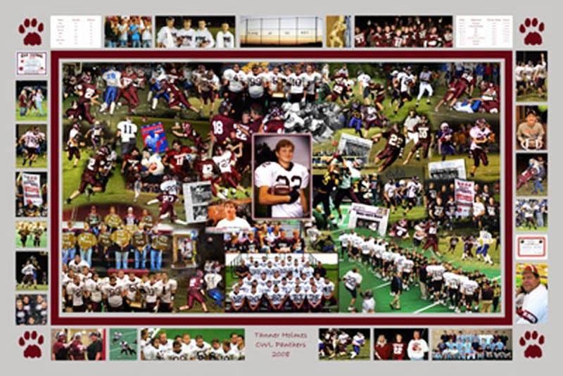 Christmas gift football montage