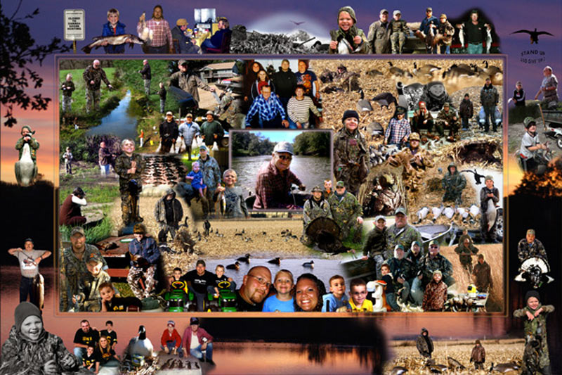 Sports, hunting photo montage