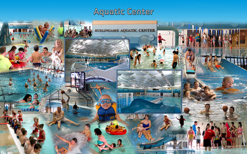 Aquatic center photo montage