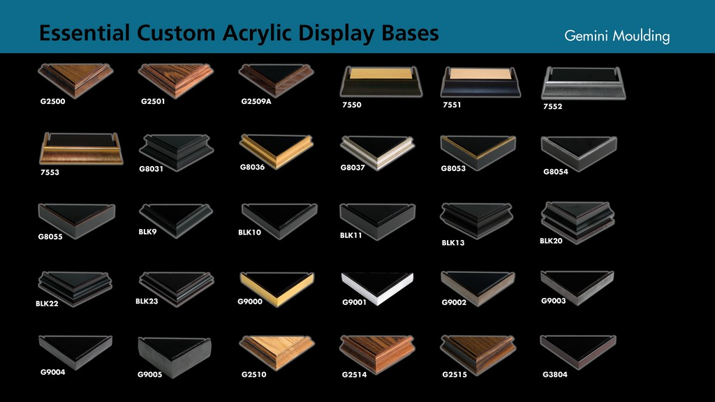 Acrylic display case bases