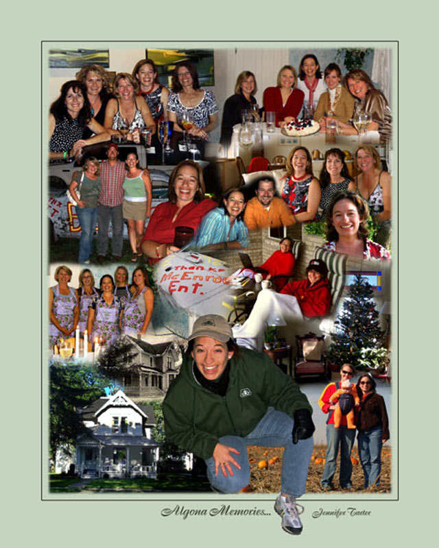 Saying farewell photo montage