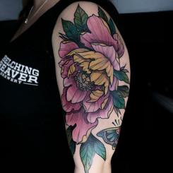 Peony Tattoo Pink