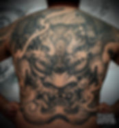 Japanese Oni Back Tattoo