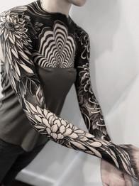 Chrysanthemum Blackwork Woman Sleeve.jpg