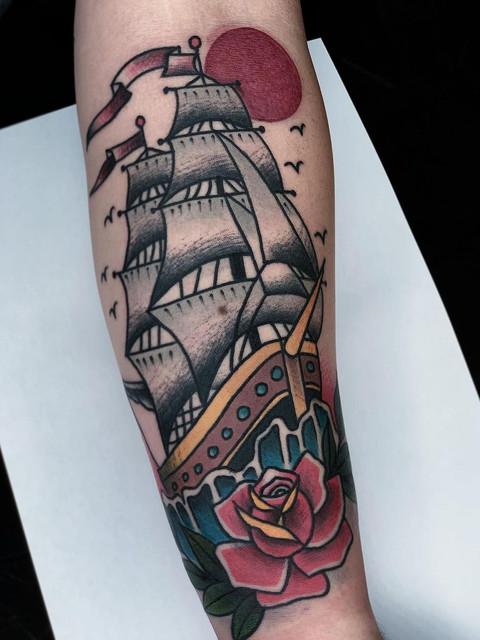 Traditional Clipper Ship Tattoo.jpg