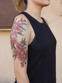 Color Flower Tattoo