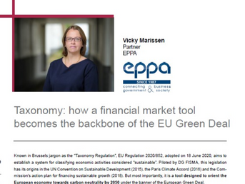"""Vicky Marissen's article in """"Spanish Financial Forum"""""""