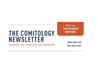 Comitology Newsletter #69, March 2021 - Taxonomy edition