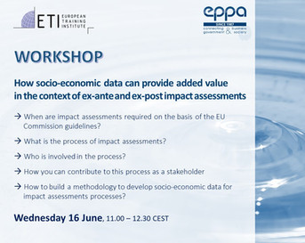 Workshop - Socio-economic data in the context of impact assessments