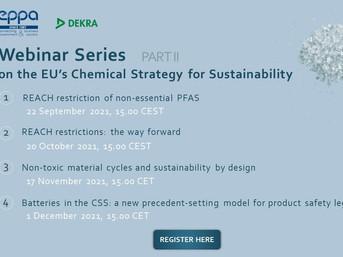 EPPA / DEKRA webinar series on the EU's new Chemical Strategy for Sustainability - Part II
