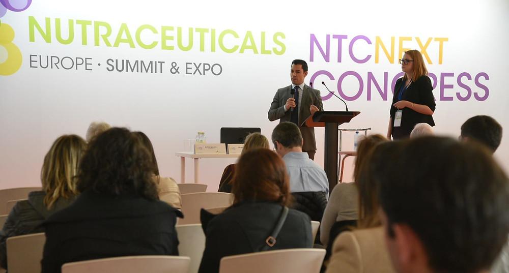 Eduardo Mulas & Alex Bocquillion speaking during Nutraceuticals Europe Summit.