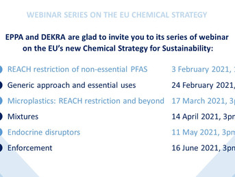 Invitation - EPPA / DEKRA webinar series on the EU's new Chemical Strategy for Sustainability