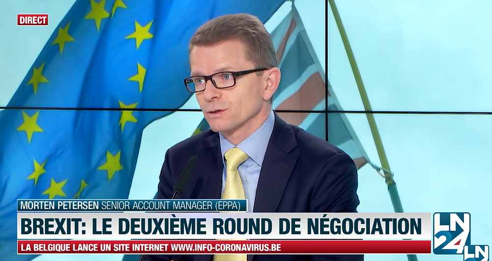 Morten Petersen invited to Belgian TV News Channel LN24 to speak about Brexit.