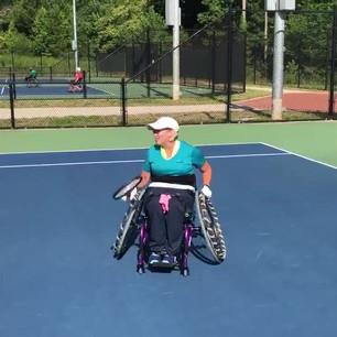 Backhands by a Quadriplegic