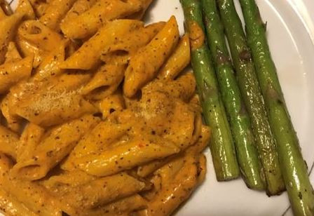 Mediterranean Roasted Red Bell Pepper Sauce with Pasta   By Shaleen Pruitt