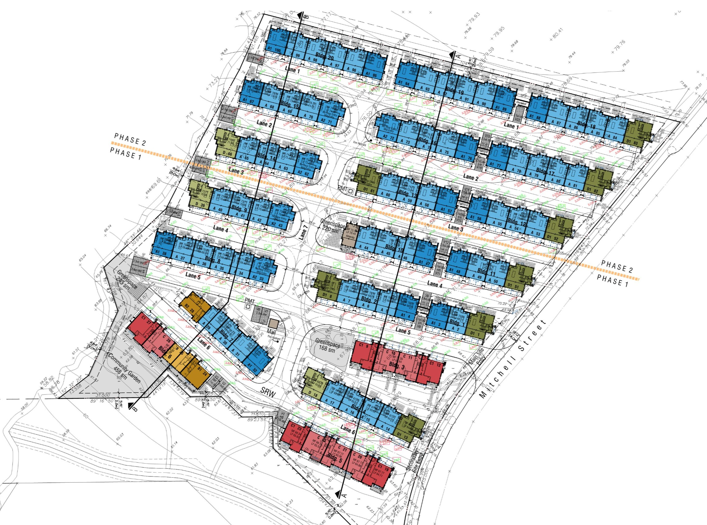 Mitchell St Site Plan