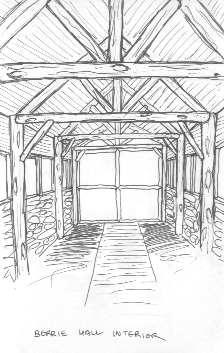 Berrie Hall Interior Sketch