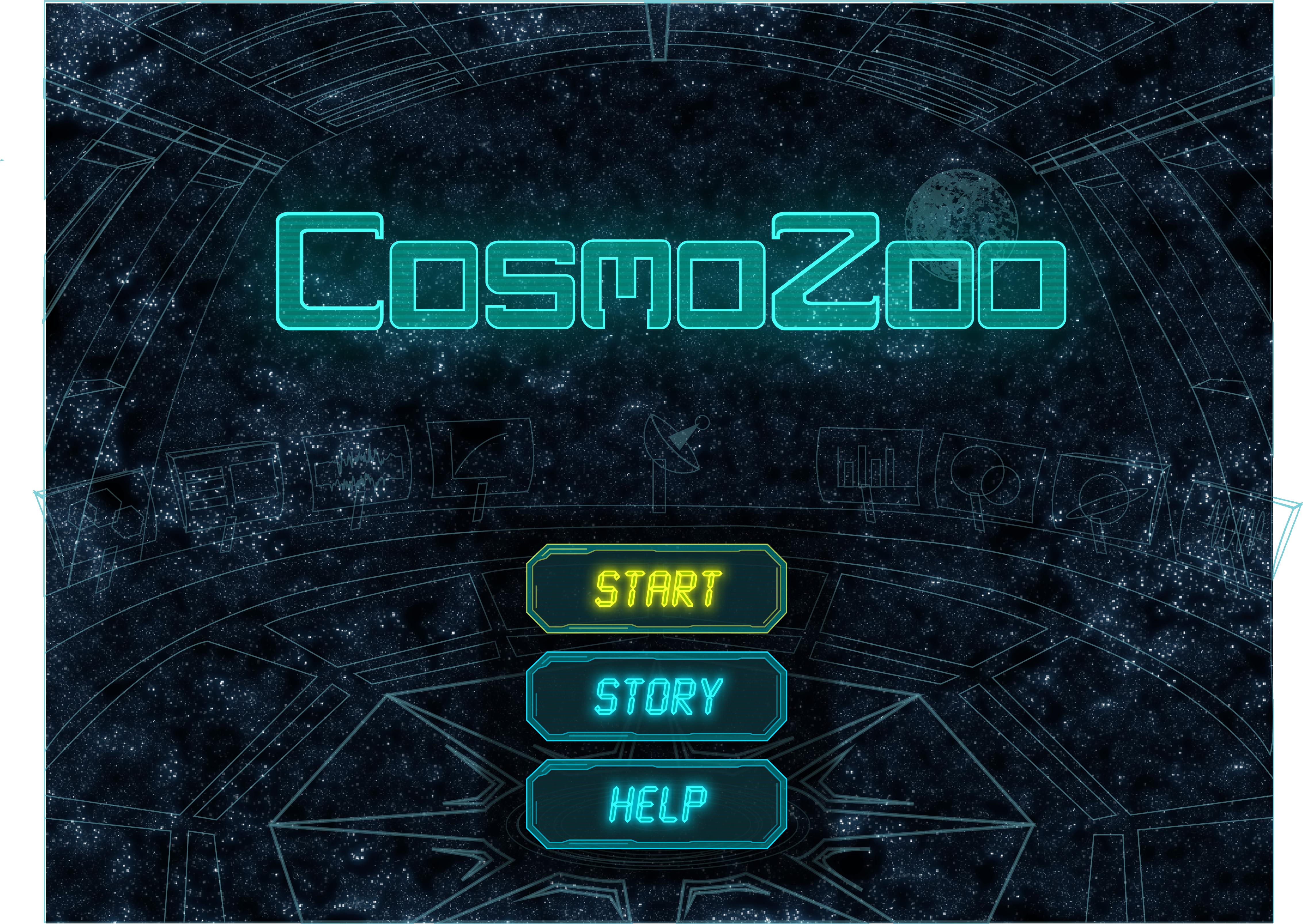 CosmoZoo Start Screen