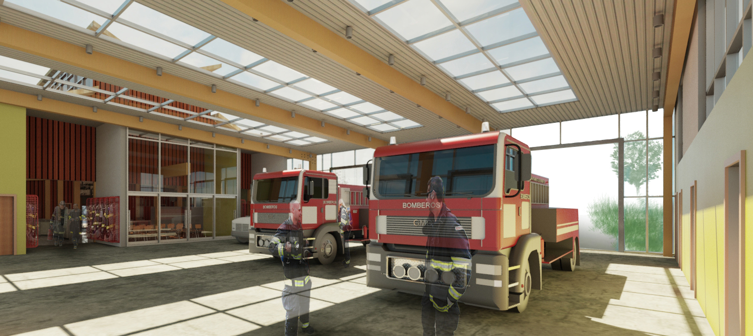 Apparatus Bay - Day Render