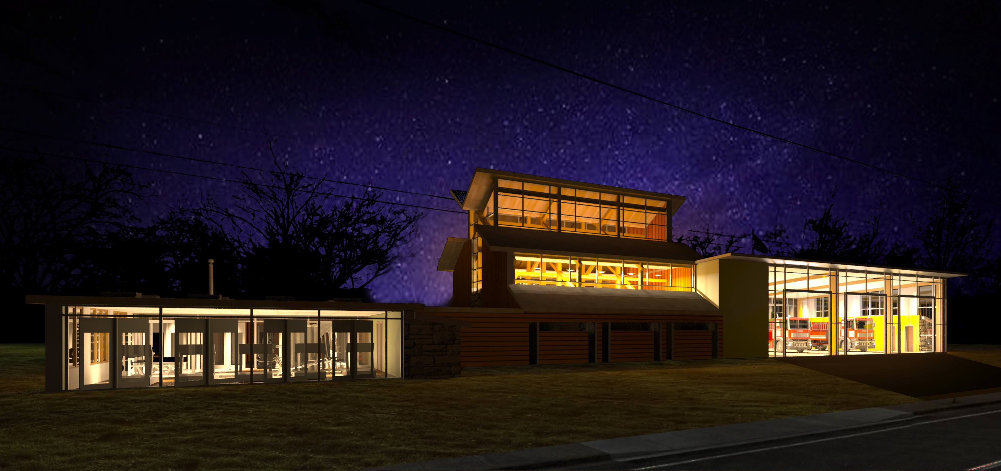 Exterior Night Render