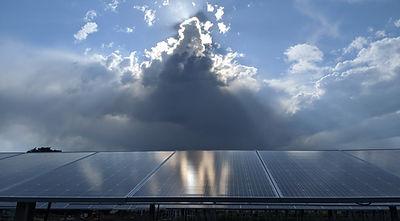 Cloudy Sunshine over Solar Array.jpg