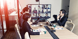 Video conference concept. Telemeeting. V