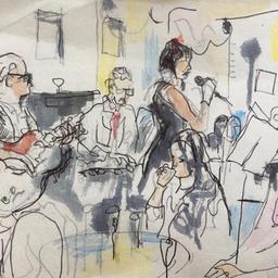 Cafe jazz evening