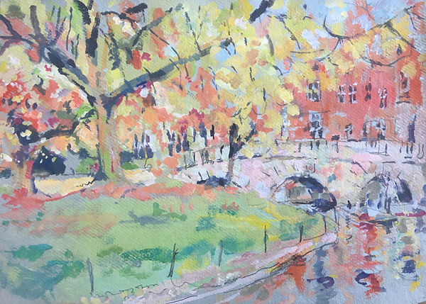 The Kitchen Bridge in  Autumn 44cm x 32c