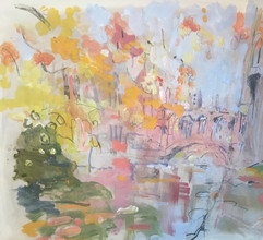 Bridge of Sighs in Autumn gouache and pencil
