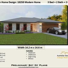 3 Bedroom Small Lot House Plan182 SB