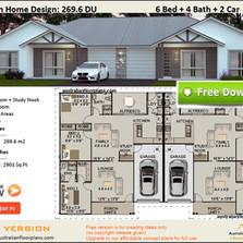 Duplex House Plans 6 bedroom 4 bathroom