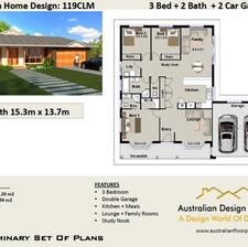 3 Bed+ Double Garage Plans119 CLM RH-2.j