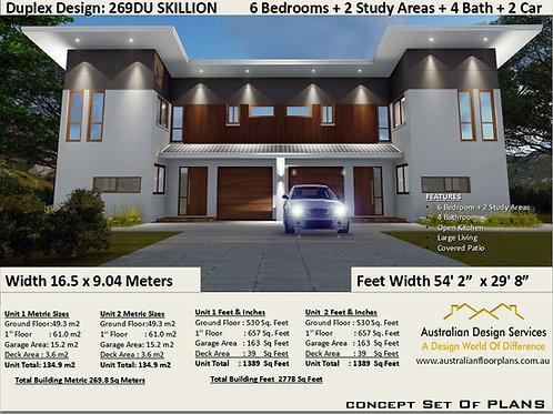 Duplex / Townhouse design 2 Family Home Design | Concept House Plans