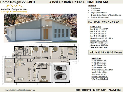 House Plan: 229SBLH - For Sale
