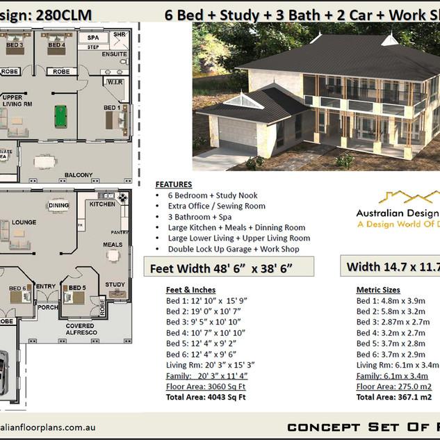 Free 6 bedroom House Plan