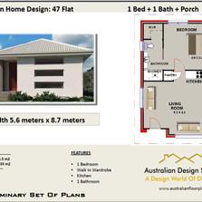 47 Flat Free House Plan