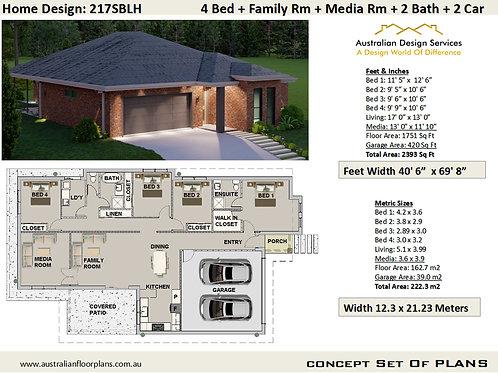 4 Bedroom  House Plans: 217SBLH