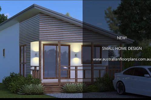 52 New Age | Small 1 Bed House Plan- 52.8 m2 | Preliminary House Plan Set-4 Sale