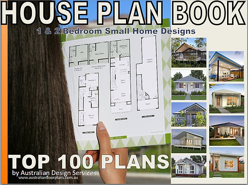 House Plan Book Small & Tiny Australian and International Home Plans Best Seller