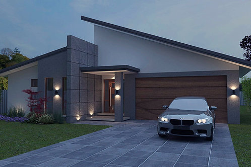skillion roof house designs australia |  246 Green- 4 Bed + Garage: 233.0 m2