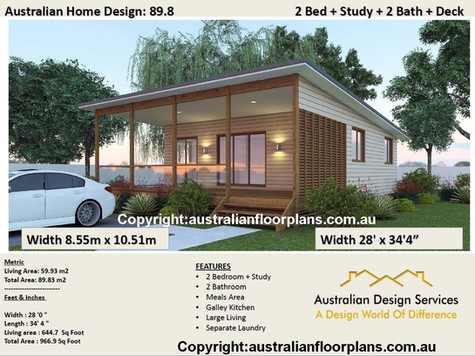 2 bedroom + 2 Bathrooms Home Design