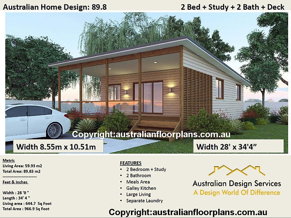 2 bedroom + 2 Bathroom kithome design