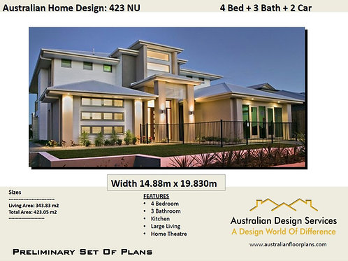 423 CLM | 2 Story House Designs and floor plan: 409.0 m2 | WOW!