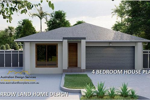 MODERN! 4 bedroom house plans one story  | 208 SB House Plan